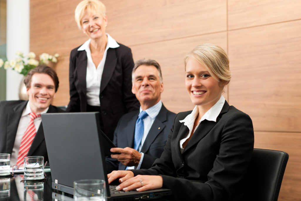 Die Objektleiter bei einer Businessbesprechung in der Firm<strong>a Ö&I Clean GmbH